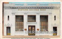 bnk001683 - Western Savings Bank Long Beach, California, USA Postcard Post Card