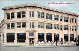bnk001685 - First National Bank Glendale, CA, USA Postcard Post Card