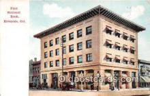 bnk001686 - First National Bank Riverside, CA, USA Postcard Post Card