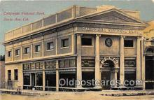 bnk001688 - California National Bank Santa Ana, CA, USA Postcard Post Card