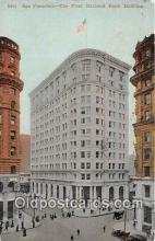 bnk001718 - First National Bank Building San Francisco, CA, USA Postcard Post Card