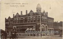 bnk001725 - First National Bank Auburn, Neb, USA Postcard Post Card