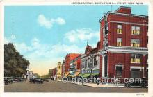 bnk001727 - Lincoln Avenue York, Nebraska, USA Postcard Post Card