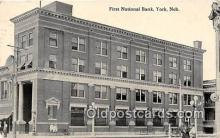 bnk001728 - First National Bank York, Nebraska, USA Postcard Post Card