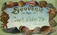 bor001046 - Creek Side, PA, Pennsylvania, USA Shells, Shell Border, Postcard Post Card