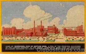 bre001008 - Budweiser, Anheuser Busch, St. Louis, Mo. USA Brewery Postcard Post Card