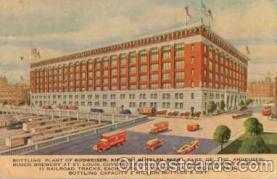 bre001009 - Budweiser, Anheuser Busch, St. Louis, Mo. USA Brewery Postcard Post Card