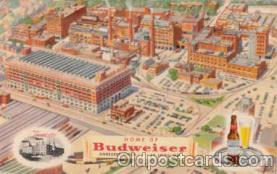 bre001010 - Budweiser, Anheuser Busch, St. Louis, Mo. USA Brewery Postcard Post Card