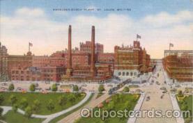 bre001012 - Budweiser, Anheuser Busch, St. Louis, Mo. USA Brewery Postcard Post Card