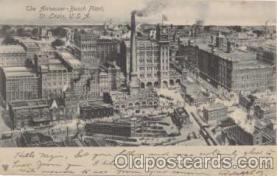 bre001013 - Budweiser, Anheuser Busch, St. Louis, Mo. USA Brewery Postcard Post Card