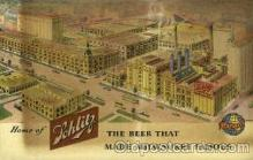 bre001071 - Jos. Schlitz Brewing Company Beer Brewery, Breweries, Postcard Post Card