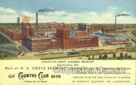 bre001214 - MK Goetz Brewing Co St. Joseph, Missouri, USA Postcard Post Cards Old Vintage Antique