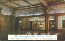 bre001234 - Blue Ribbon Hall, Pabst Brewing Co Milwaukee, Wis, USA Postcard Post Cards Old Vintage Antique