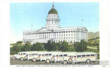 bus010002 - Gray Line Buses, Salt Lake City, Utah, UT, USA Bus Postcard Post Card