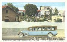 bus010003 - Brown's Pierce Arrow Tours, Los Angelas, California USA, Auditorium Hotel,  Bus Postcard Post Card
