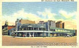 bus010017 - Grayhound Bus Depot, Minneapolis, Minn USA, Bus Buses Postcard Post Card