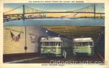 bus010027 - The Ambassadoe Bridge, Detroit-Windsor Tunnel, Taxi service, Hot Spring National Park Bus, Buses Postcard Post Card