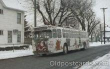 Trolly bus roams the city