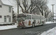bus010055 - Dayton, Ohio, Oh, USA Trolly bus roams the city through the holiday season Bus, Buses Postcard Post Card