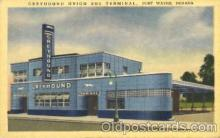 bus010071 - Fort Wayne, Indiana, In, USA Bus Terminal, Chicago Bus, Buses Postcard Post Card