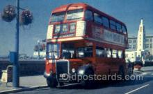 bus010104 - Olde English Double Decker, UK Bus Buses, Old Vintage Antique Post Card Postcard