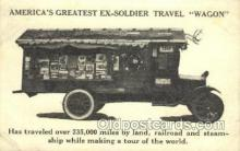 bus010120 - Americas Great Travel Wagon Opens up in 2 parts, Bus Buses, Old Vintage Antique Post Card Postcard