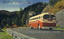 bus010130 - Smoky Mountain Trailways Bus, Asheville, NC USA Bus Buses, Old Vintage Antique Post Card Postcard