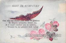 but000010 - Sent in Sympathy  Postcard Post Card