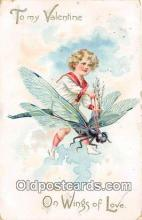 but000018 - To My Valentine, On Wings of Love Raphael Tuck & Sons Postcard Post Card
