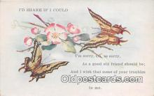but000034 - I'd Share if I Could Sympathy Postcard Post Card