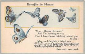 but000035 - Butterflies for Pleasure  Postcard Post Card