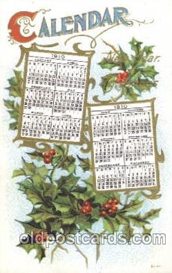 cal001006 - 1910 Calendar Postcard Post Card