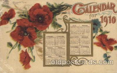 cal001015 - 1910 Calendar Postcard Post Card