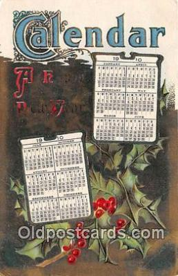 cal001023 - Calander Vintage Postcard