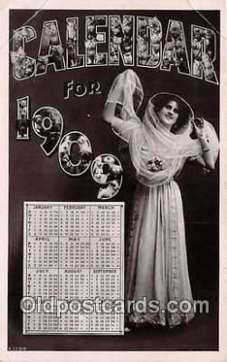 cal001025 - Calander Vintage Postcard
