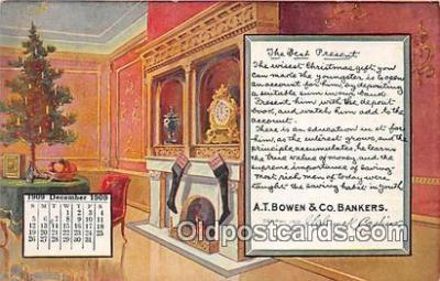 cal001030 - Calander Vintage Postcard