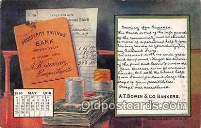 cal001033 - Calander Vintage Postcard