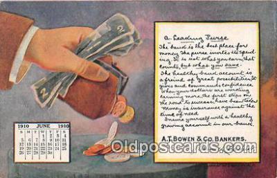 cal001034 - Calander Vintage Postcard