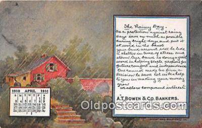 cal001035 - Calander Vintage Postcard