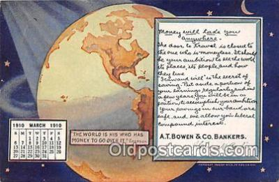 cal001036 - Calander Vintage Postcard