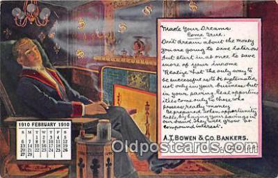 cal001037 - Calander Vintage Postcard