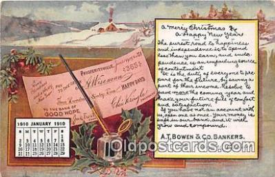 cal001038 - Calander Vintage Postcard