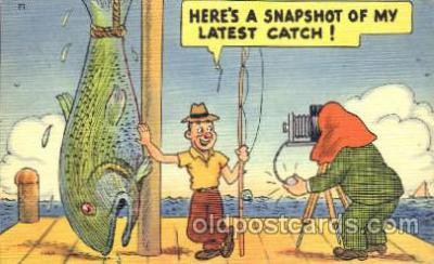 cam001082 - Fishing, Camera Postcard Post Card