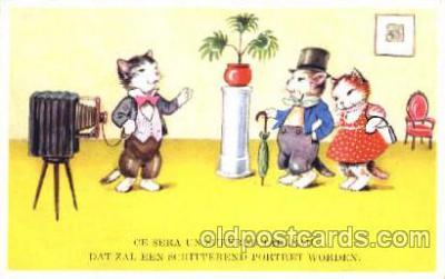 cam001084 - Dressed Cats, Camera Postcard Post Card