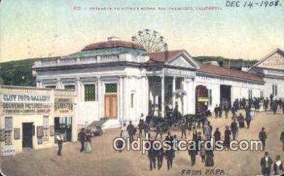 cam001289 - Sutro's Bath, San Francisco, California, USA Camera Postcard, Post Card Old Vintage Antique