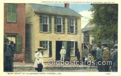 cam001297 - Mark Twain, Boyhood Home, Hannibal, MO, USA Camera Postcard, Post Card Old Vintage Antique