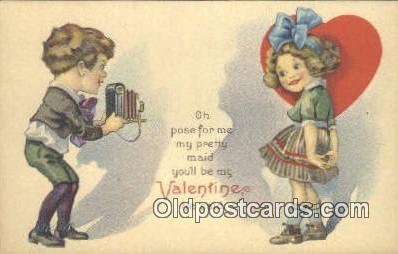 cam001300 - Valentine Camera Postcard, Post Card Old Vintage Antique