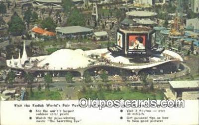 cam001339 - 1965 NY Worlds Fair Camera Postcard, Post Card Old Vintage Antique