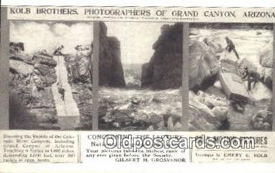 cam001350 - Kolb Brothers, Grand Canyon, Arizona Camera Postcard, Post Card Old Vintage Antique