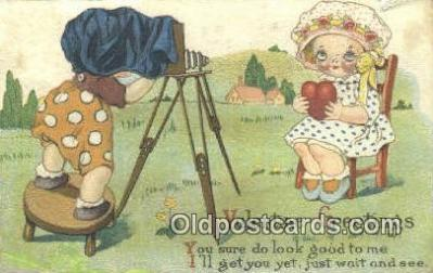 cam001430 - Valentine Camera Postcard, Post Card Old Vintage Antique
